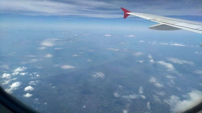 View from the window of a flight