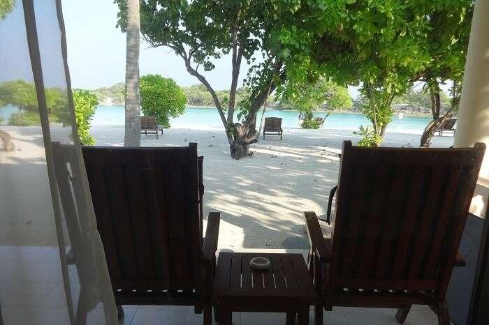 Beach view room in Maldives