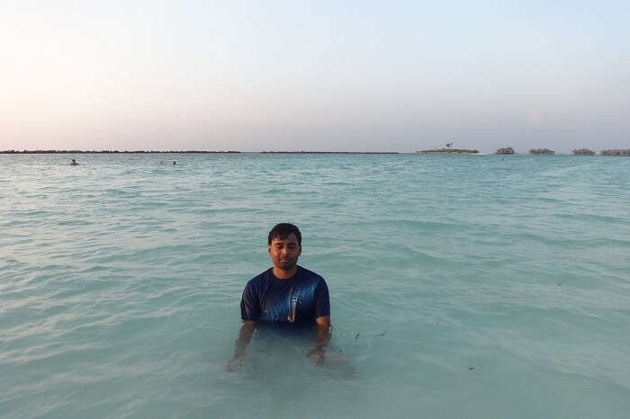 Beach fun in Maldives