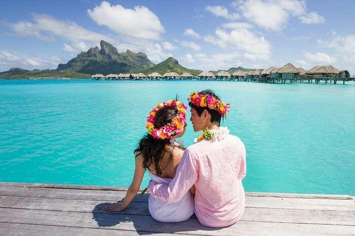 Honeymoon Couple in Maldives