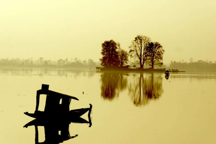 Dal Lake on a bright day in Kashmir