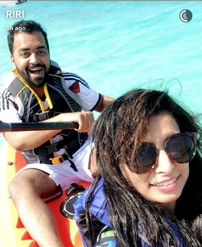 Water activities in Maldives