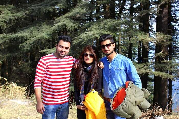 Friends on a trip to Kanatal