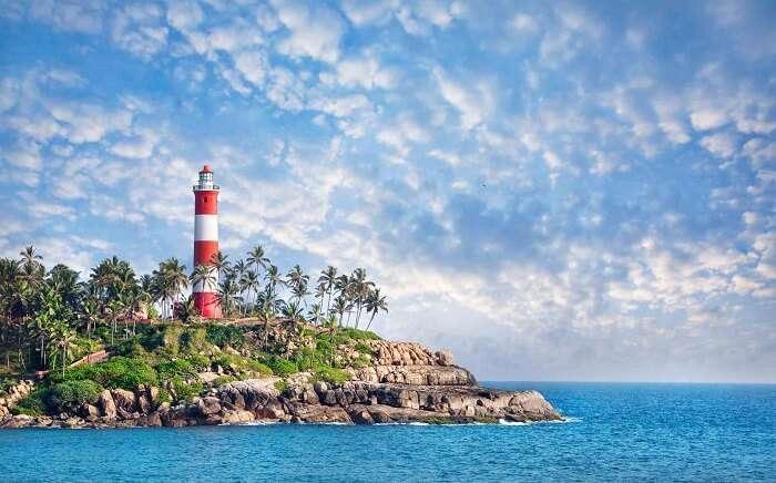 lighthouse beach in Kovalam