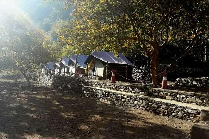 Tents at campsite in Lansdowne