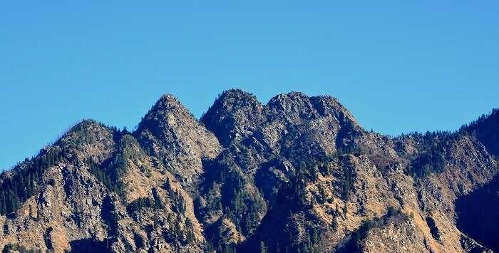 Nanda Devi Peak viewed from Auli