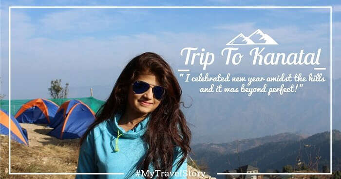 Anchal posing for a photograph during her new year weekend trip to Kanatal