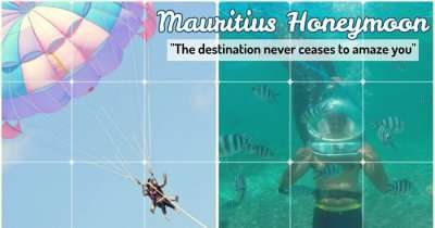 Chintan on a honeymoon trip to Mauritius