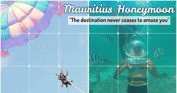Chintan on a honeymoon trip to Mauritius