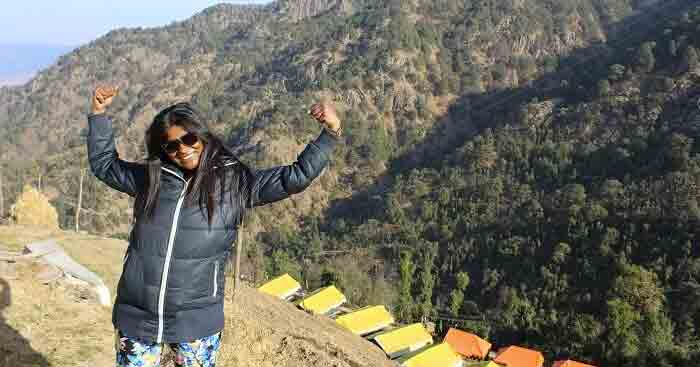 shefali weekend trip to dhanaulti