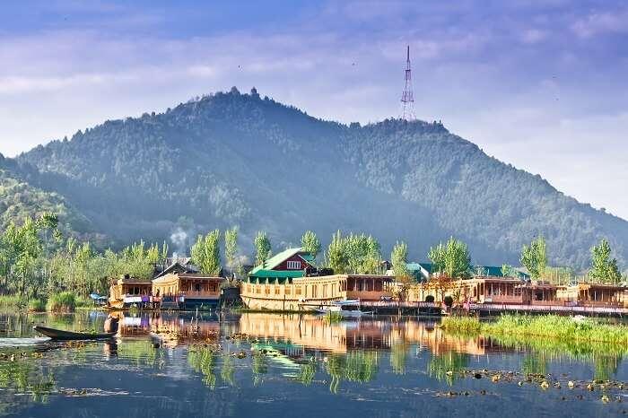 Boathouse in Dal Lake of Srinagar