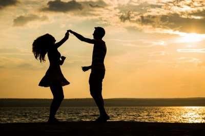 Couple enjoying a romantic dance