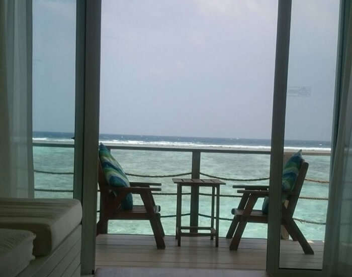 Water villa at the holiday inn in maldives