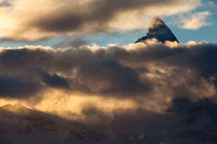 Sunset from Matterhorn in Zermatt