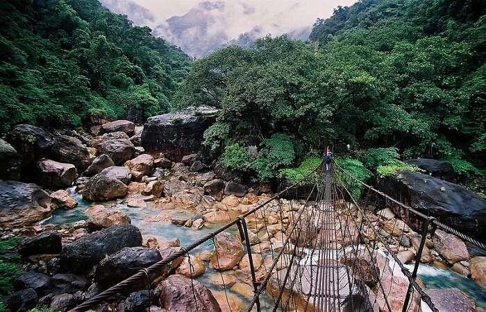 natural valley in Cherrapunjee