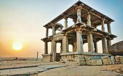 View of Hanuman Temple in Hampi