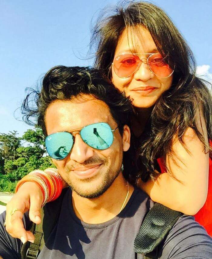Mayank and his wife in havelock