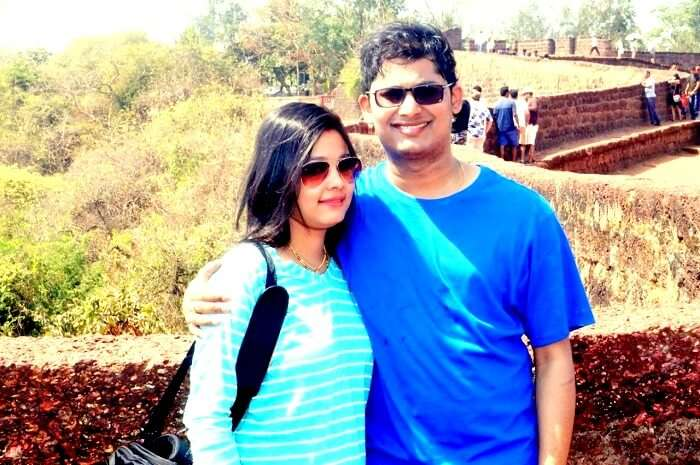 Couple in Goa fort