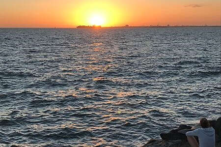 Sunset At St. Kilda Beach