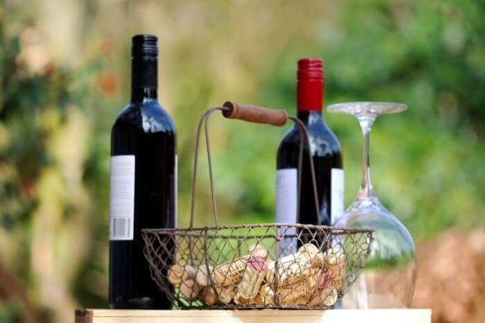 Couple tasting wine in Yarra Valley