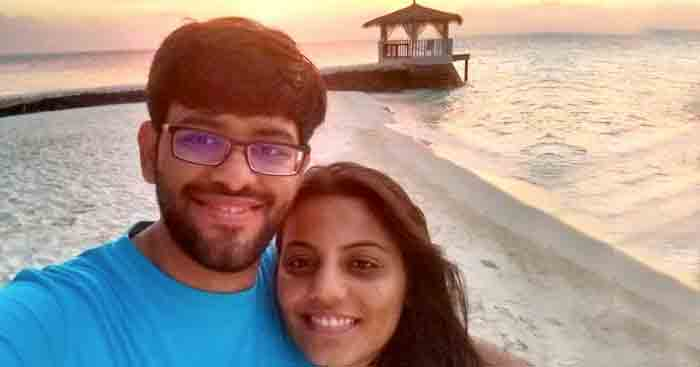 Aviral with his wife in Maldives