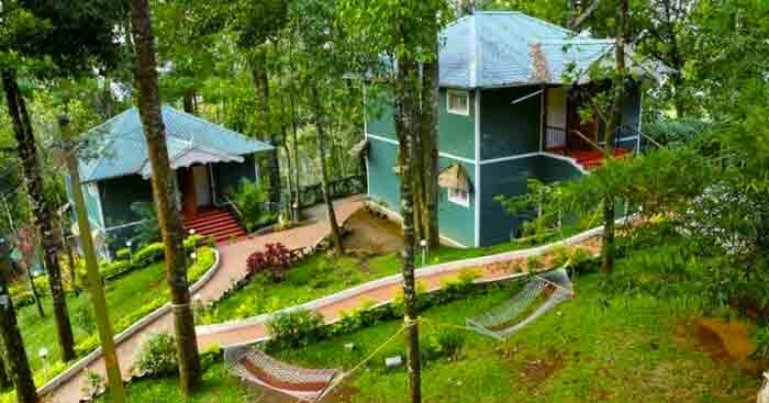 A view of budget hotel in Munnar