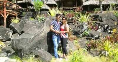 Cynthia on a honeymoon trip to Mauritius
