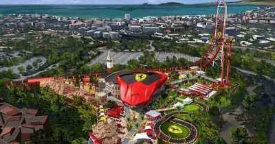 Aerial view of Ferrari land in Spain