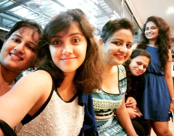 Ramya and her friends click a selfie in Thailand
