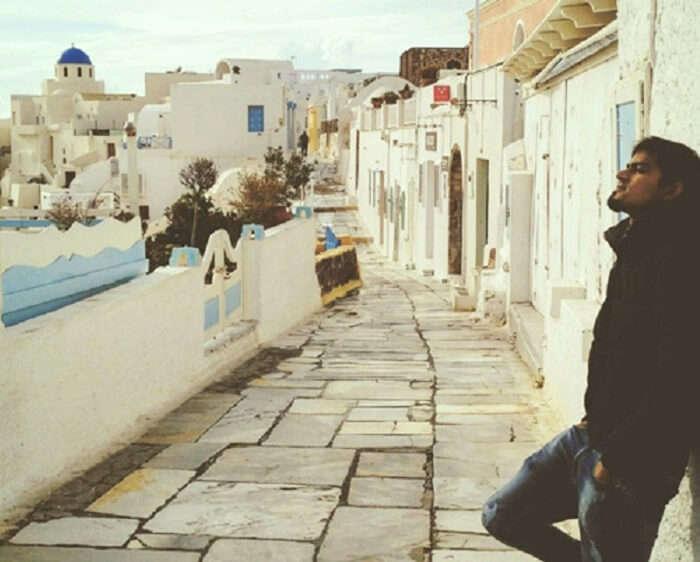 Prashant on backpacking trip to Europe