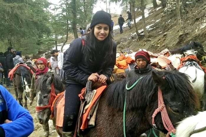 riding a yak in kufri