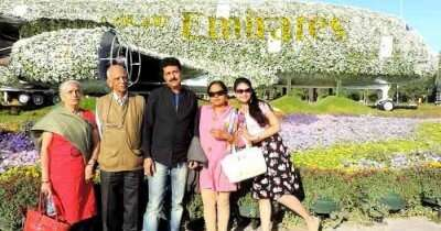 Mangesh on a family trip to Dubai
