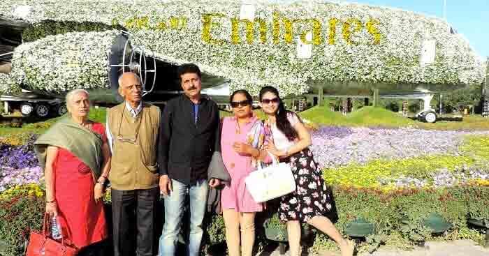 Mangesh on a family trip to Dubai