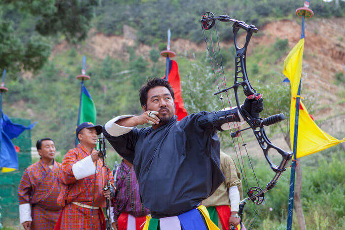 Archery competition in Bhutan