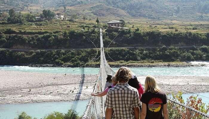 suspension bridge in bhutan
