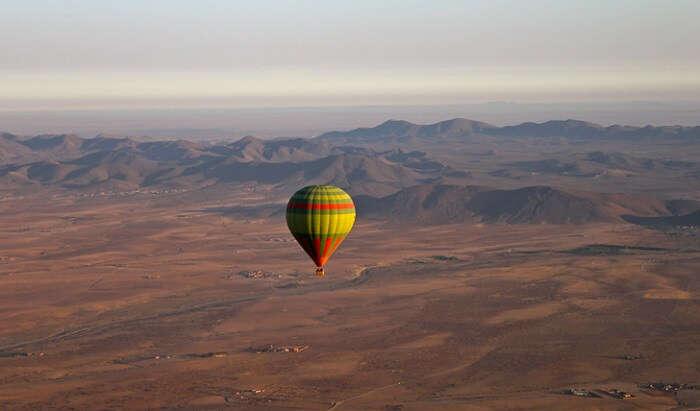 Hot air ballooning in Marrakech