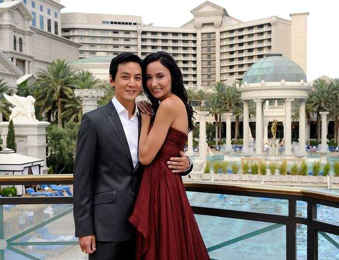 Couple at Caesars Palace in Vegas