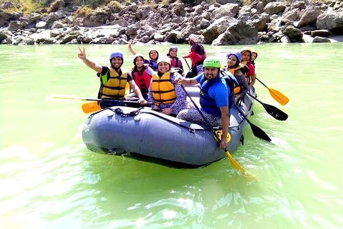 Rafting in Ganges in Rishikesh