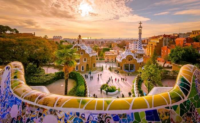 Parc Guell in Barcelona, Spain