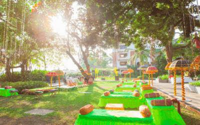 Colorful arrangement of a wedding ceremony in Alila Diwa