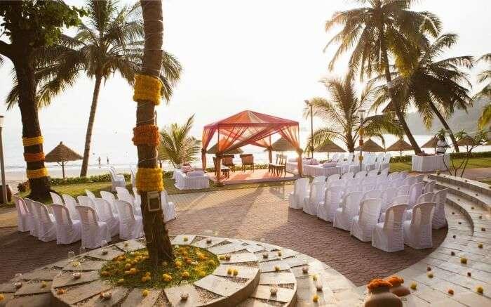 Wedding set up in Cidade de Goa