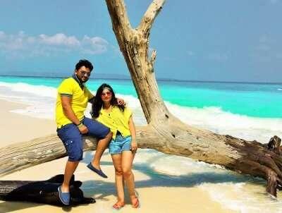 Romantic couple at the beach