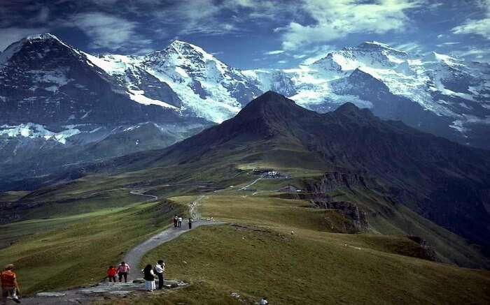 Group of eco-travelers during a tour into the mountains in Arunachal Pradesh
