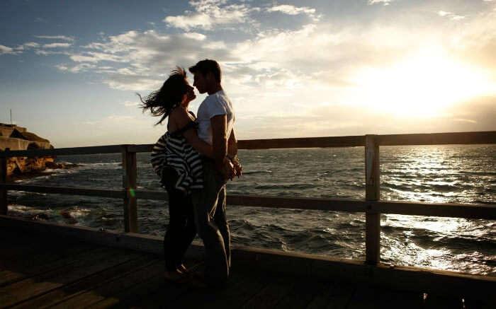 A couple on a seashore