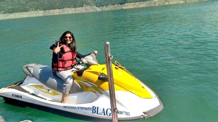 riding the waves in tehri lake