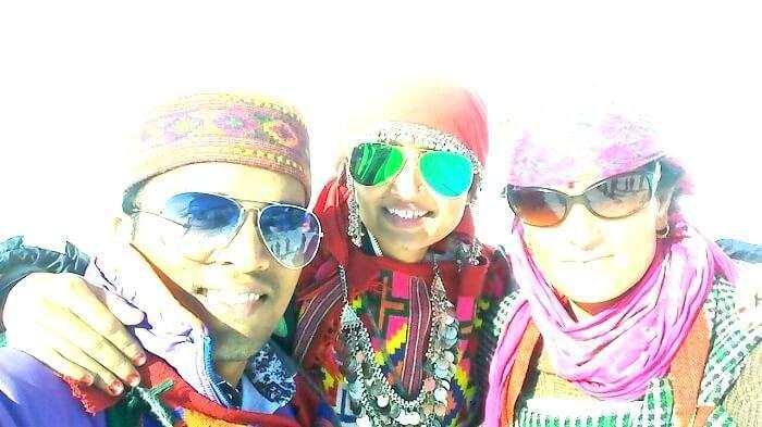 Himachali costume in manali