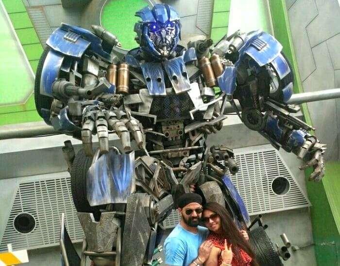 transformers ride in universal studios