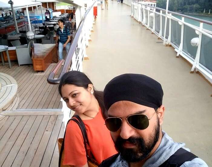 at the main deck of high seas cruise