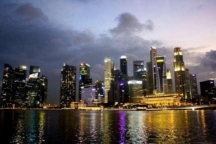 beautiful skyline in singapore