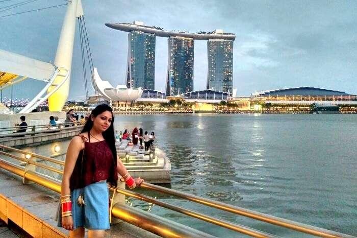 night sky taking effect in singapore